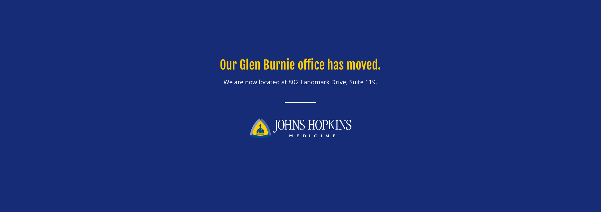 Our Glen Burnie Office is moving!